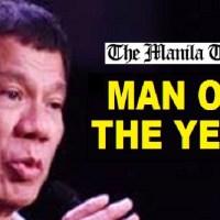 PRESIDENT RODRIGO DUTERTE NAMED MAN OF THE YEAR BY THE MANILA TIMES