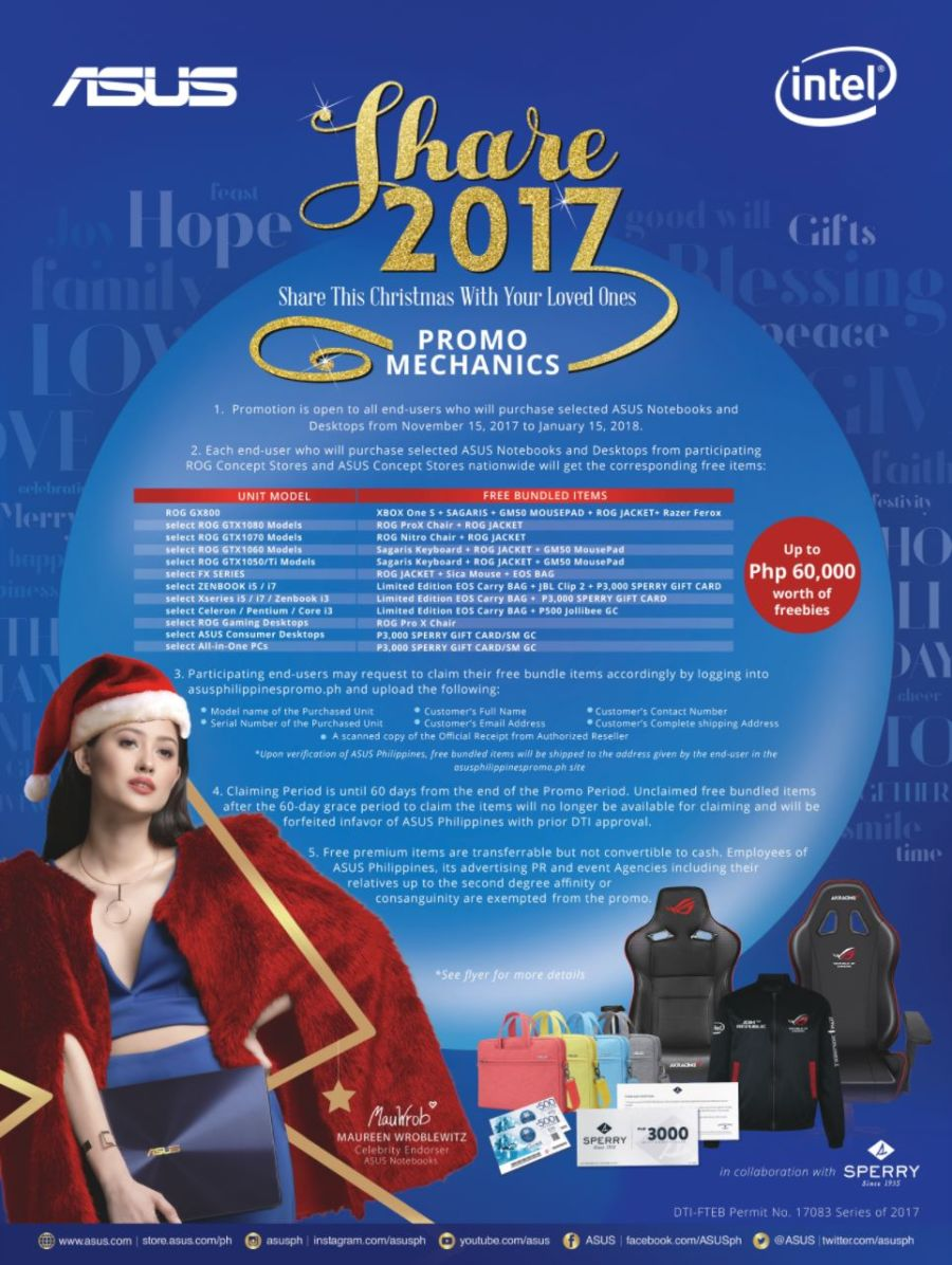 ASUS Philippines 2017 Christmas Promo poster