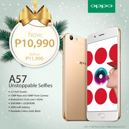 OPPO Holiday Gift Guide A57