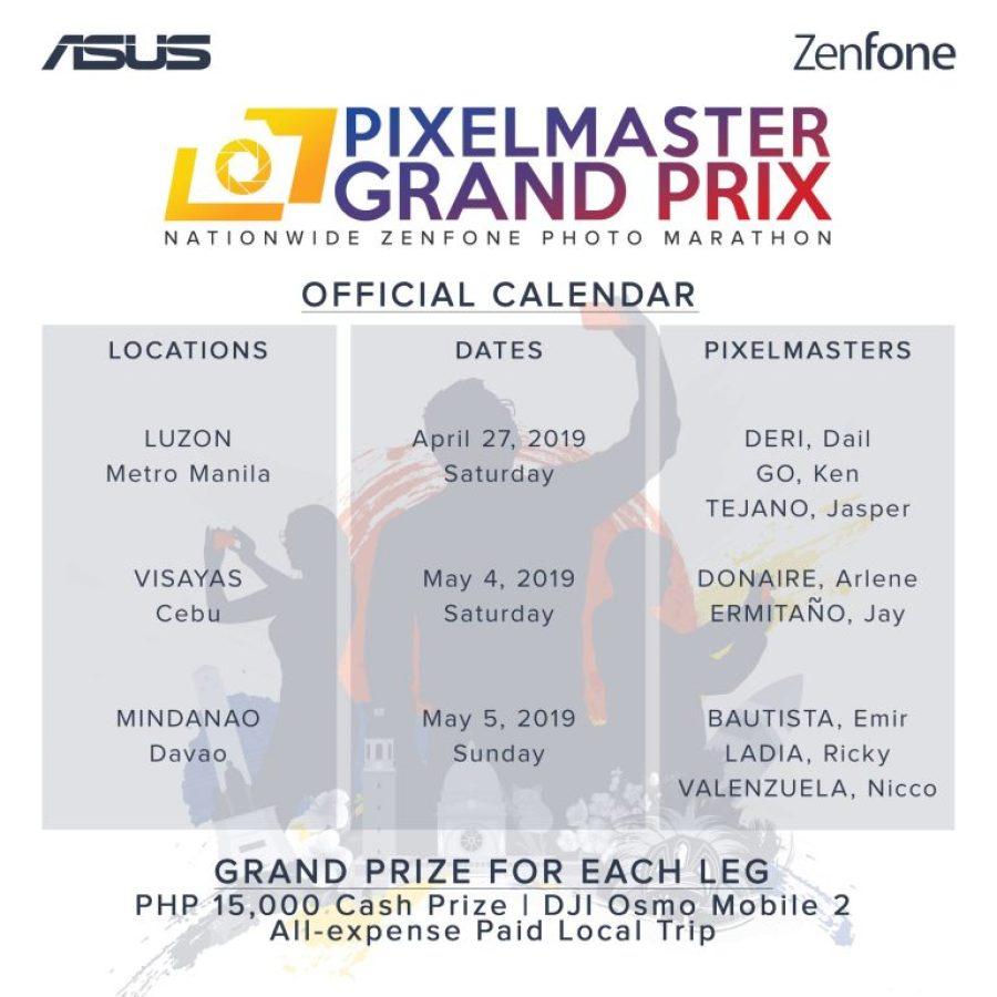 PixelMaster Grand Prix Calendar