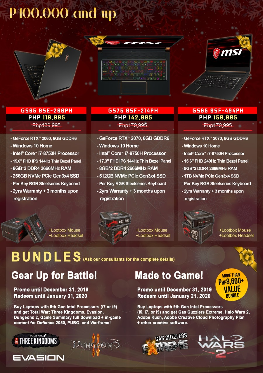 MSI End of Year Sale Promo 4