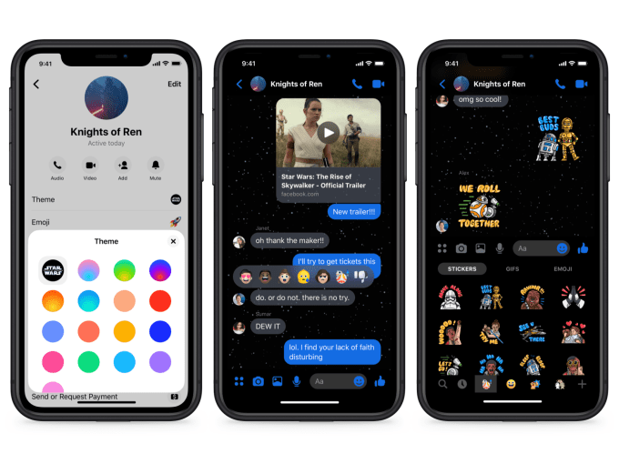 Star Wars Rise of Skywalker Facebook Messenger Chat Theme