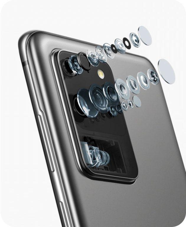 Samsung Galaxy S20 Ultra camera lens