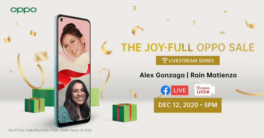 #OPPOJoyFullSale Livestream with Alex Gonzaga and Rain Matienzo