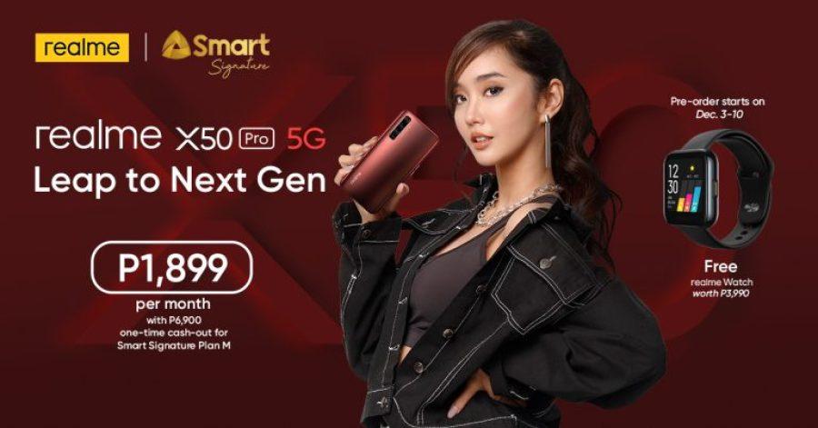 realme X50 Pro 5G on Smart Signature Plan