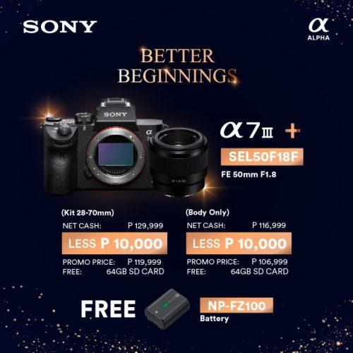 Sony Alpha 7 III promo