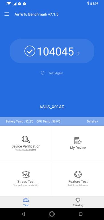 Zenfone Max M2 Antutu