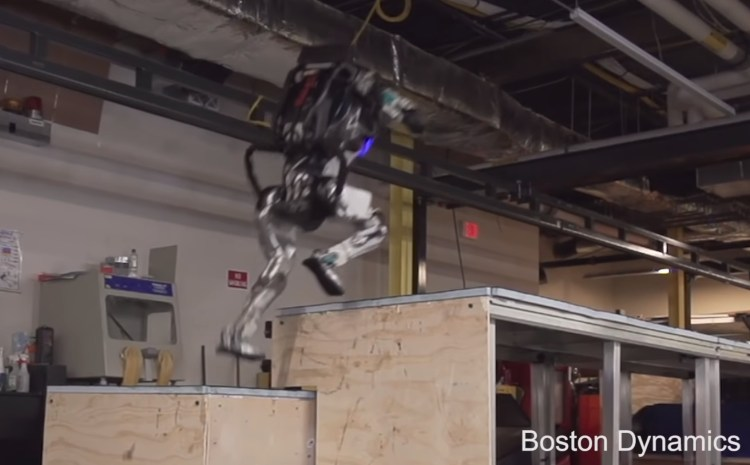 Atlas Robot 'Parkour' video Boston Dynamics