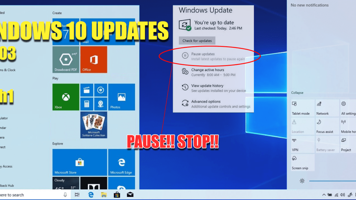 Windows 10 May 2019 v 1903 aka 19h1 Update You May Want it Now