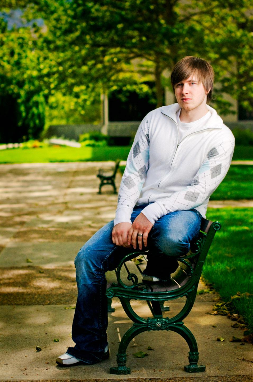 Photograph on a park bench