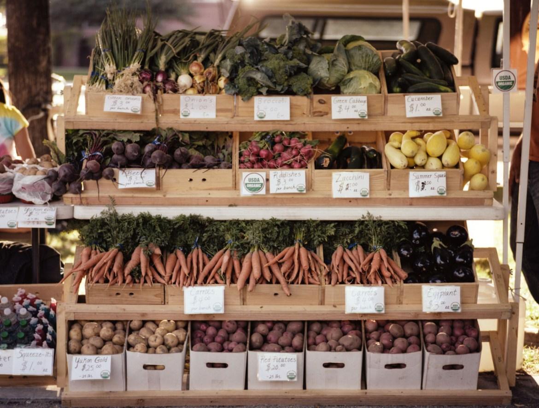 Vegetables at Salt Lake Farmers Market