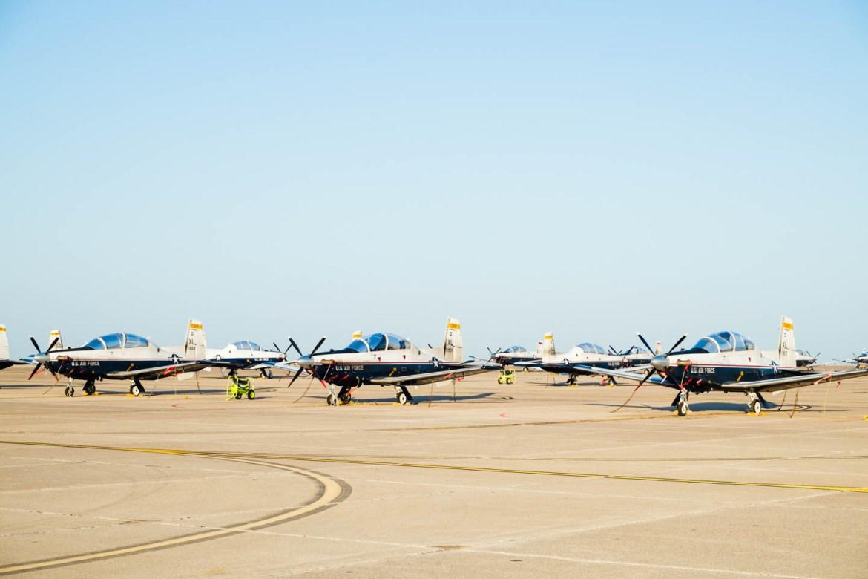 So many training planes