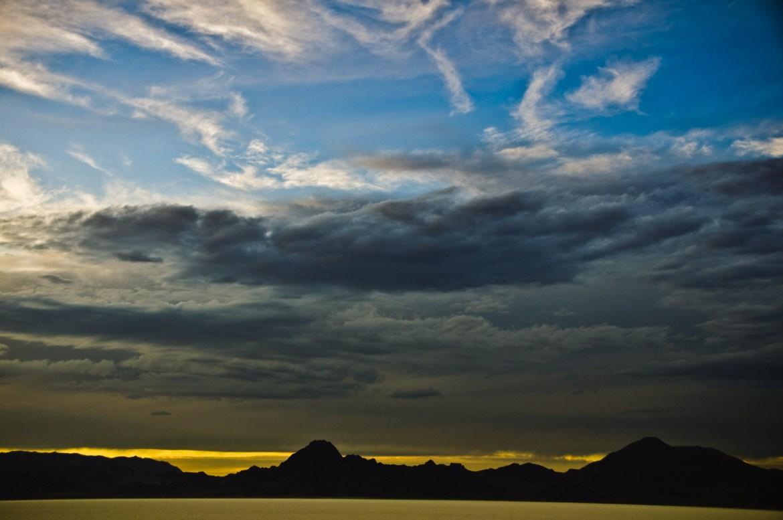 Sunsets on the Bonneville Salt Flats