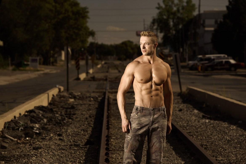 Yep, portraits on abandoned railroad tracks