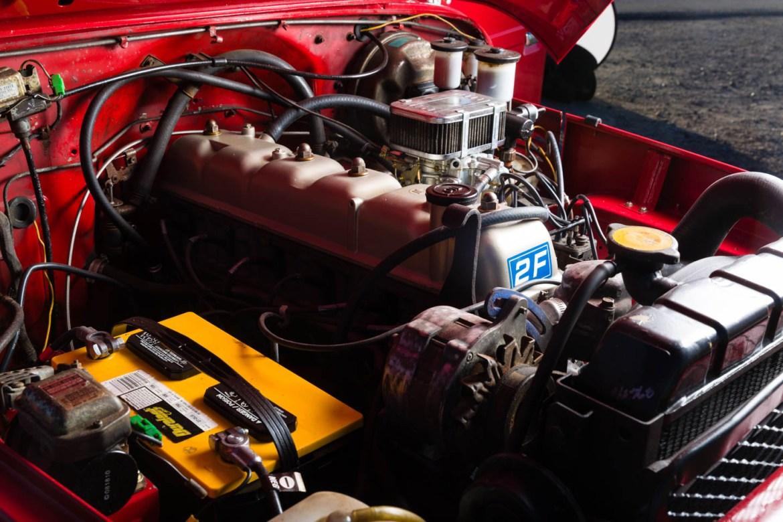 Restored engine for the Toyota Land Cruiser