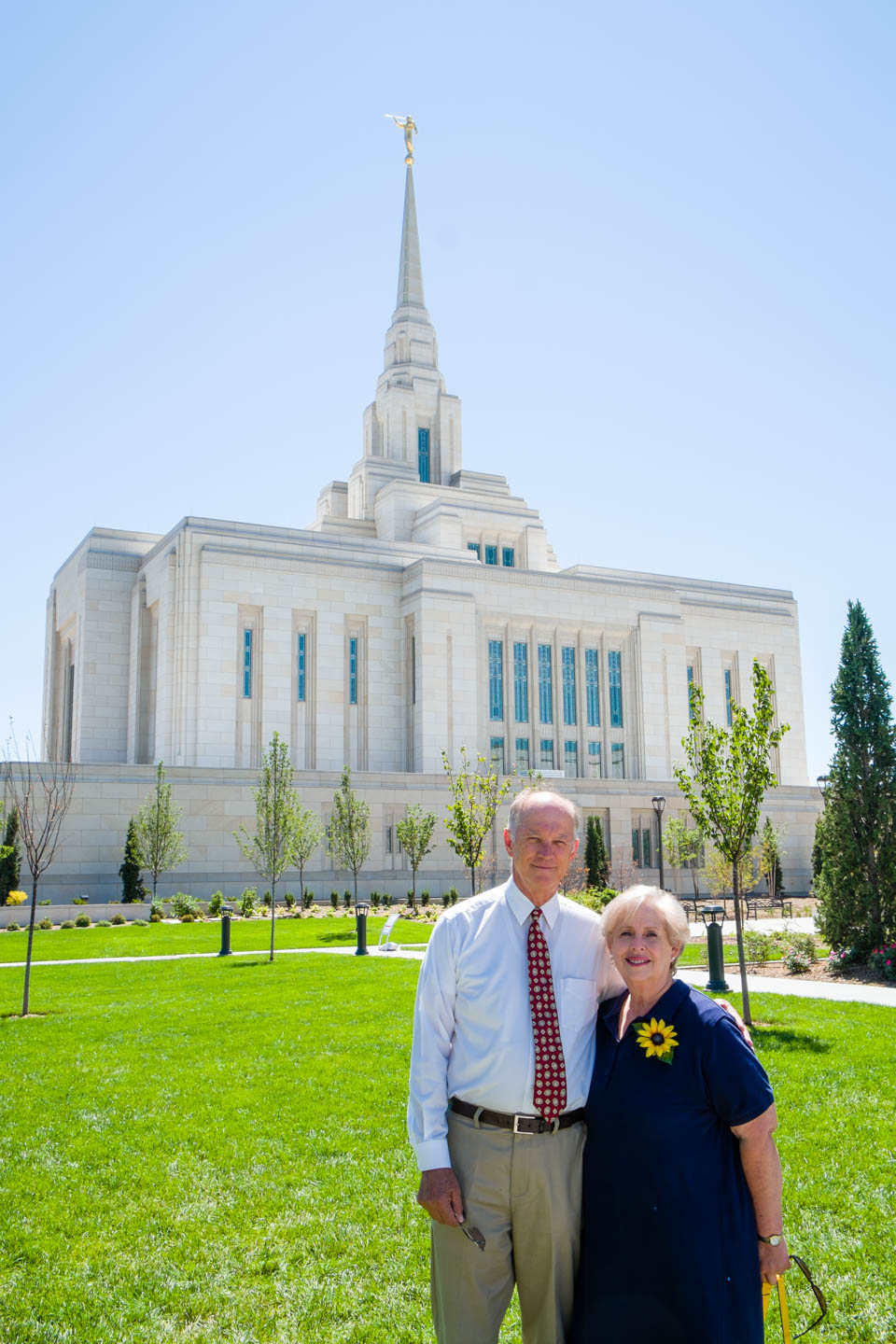 My parents in front of the Ogden Temple