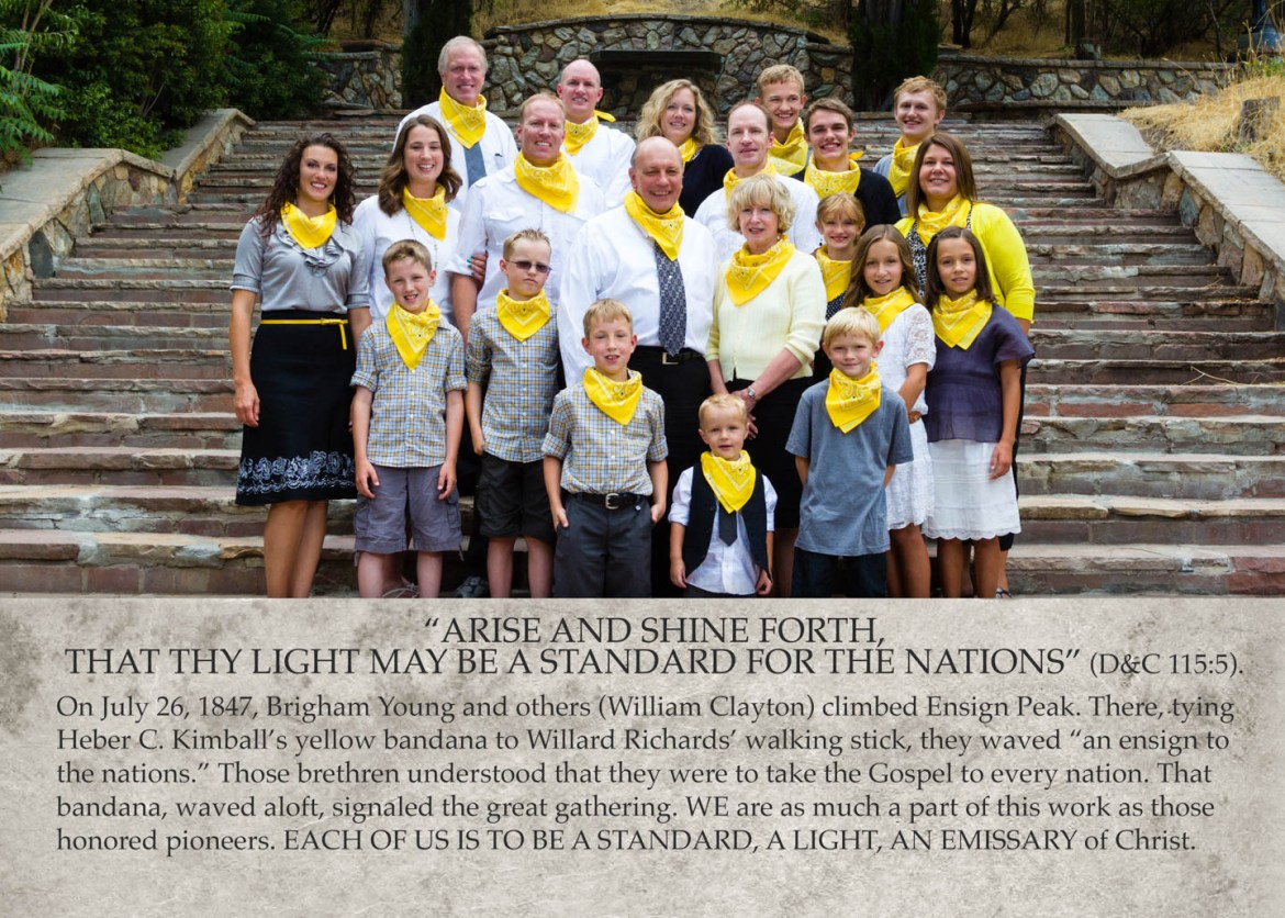 The Henri Family with a mission statement