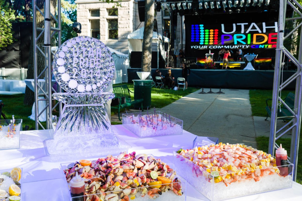 Ice Sculpture for Utah Pride Grand Marshal Party