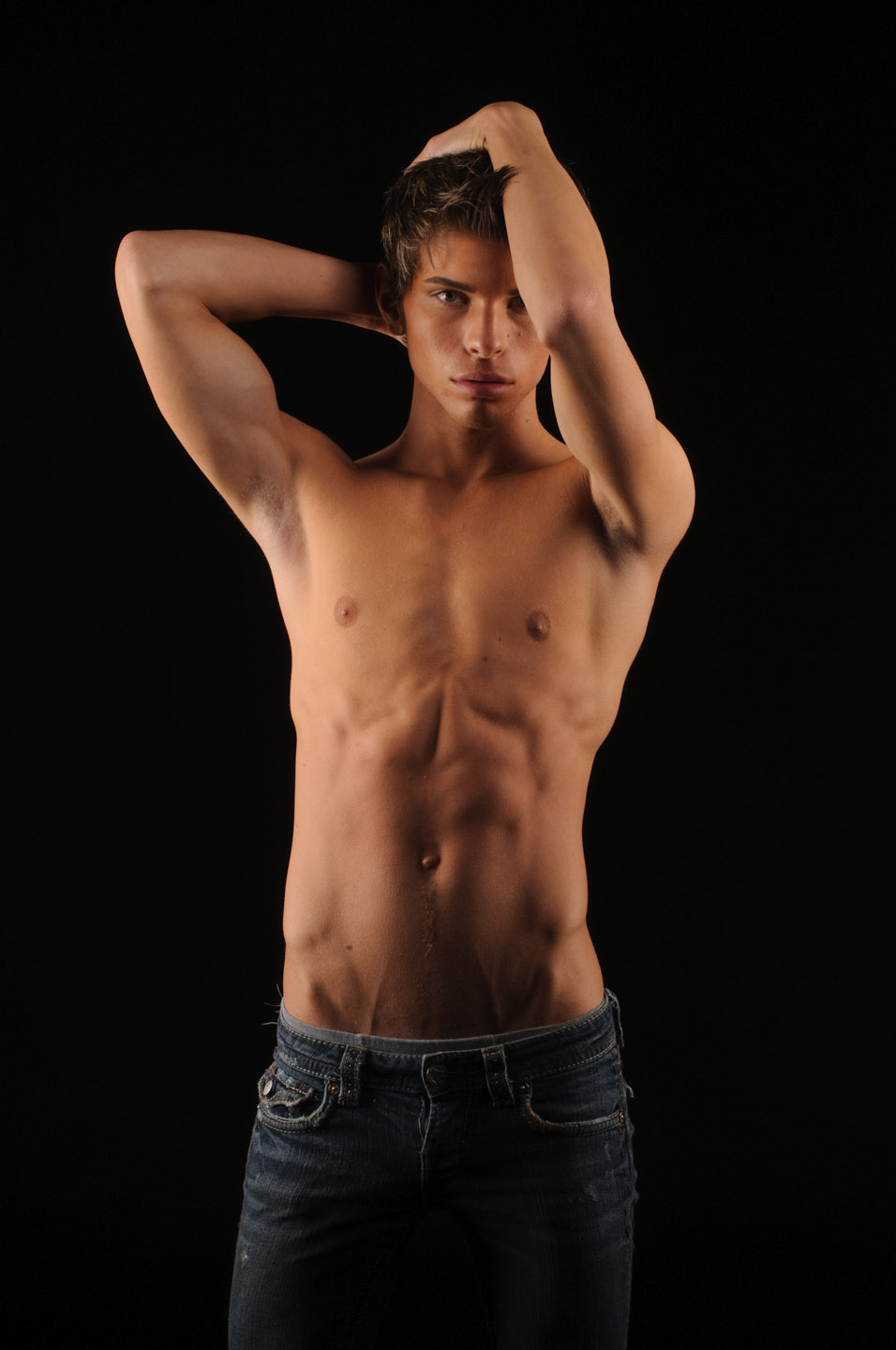 Shirtless portrait of a male model