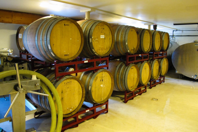 Wine Barrels at Boyden Valley Winery in Vermont