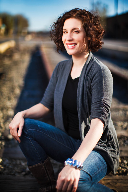 Portraits on abandoned train tracks, a little cliche but people like it