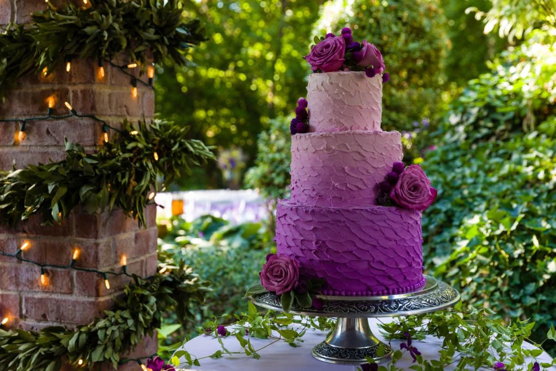 Purple or lilac wedding cake