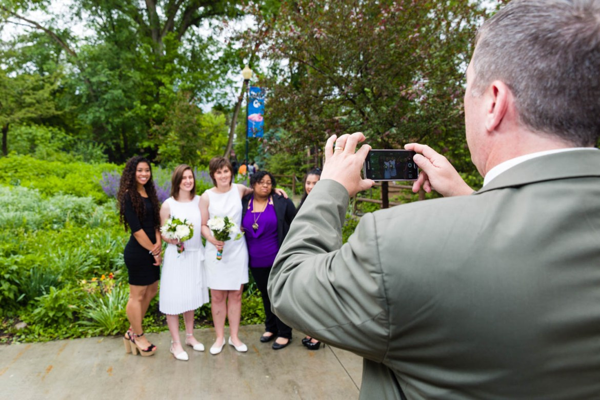 Everyone has a camera at weddings these days
