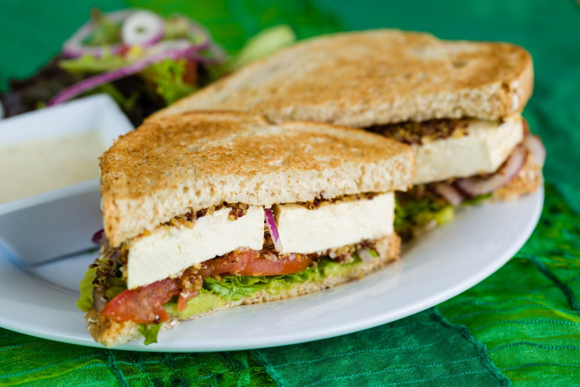 Sprouted Vegan Tofu Sandwich