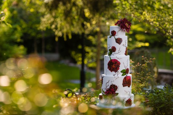 Wedding cake in the lovely Garden Park Ward