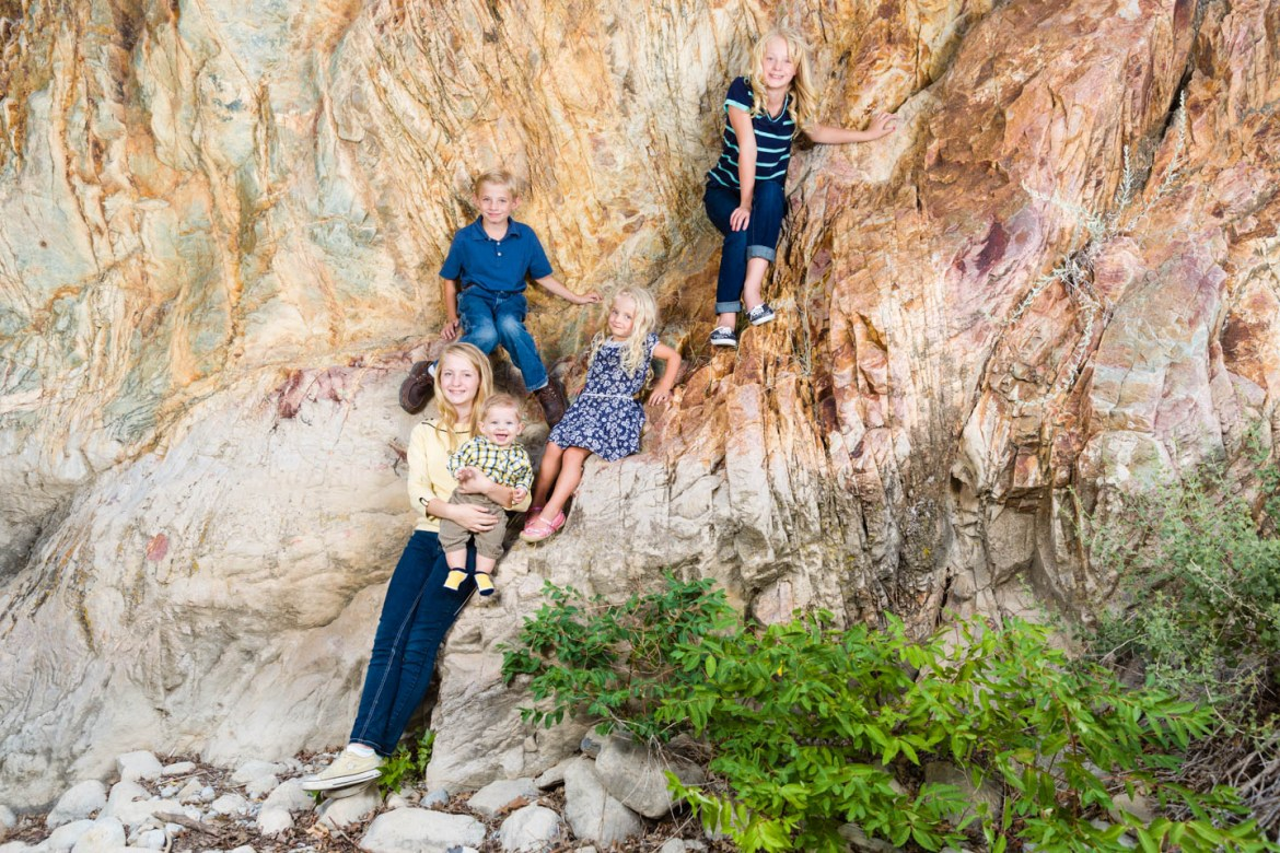Group portrait of the kids in Rock Canyon