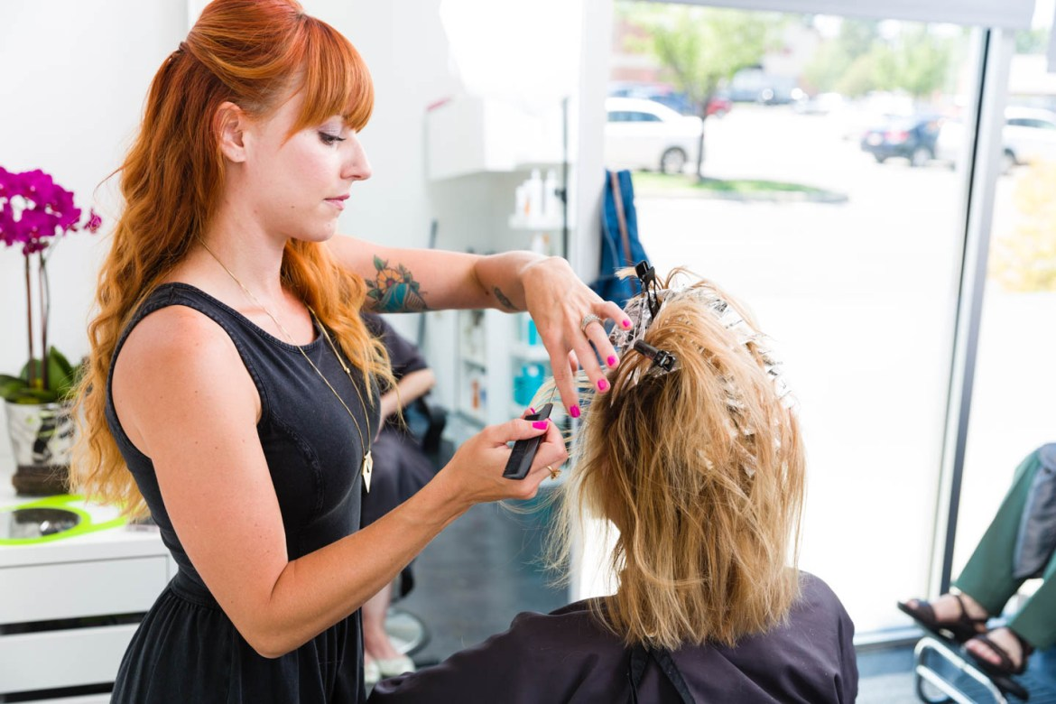 Hair coloring and highlights