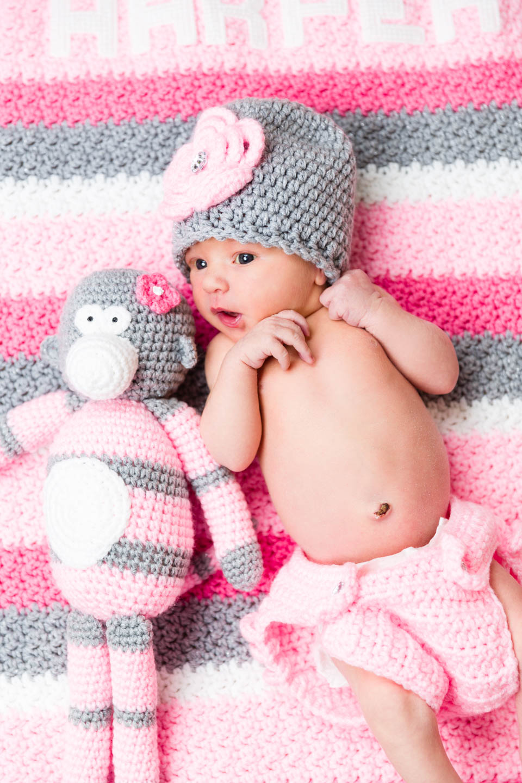 Harper and her stuffed animal