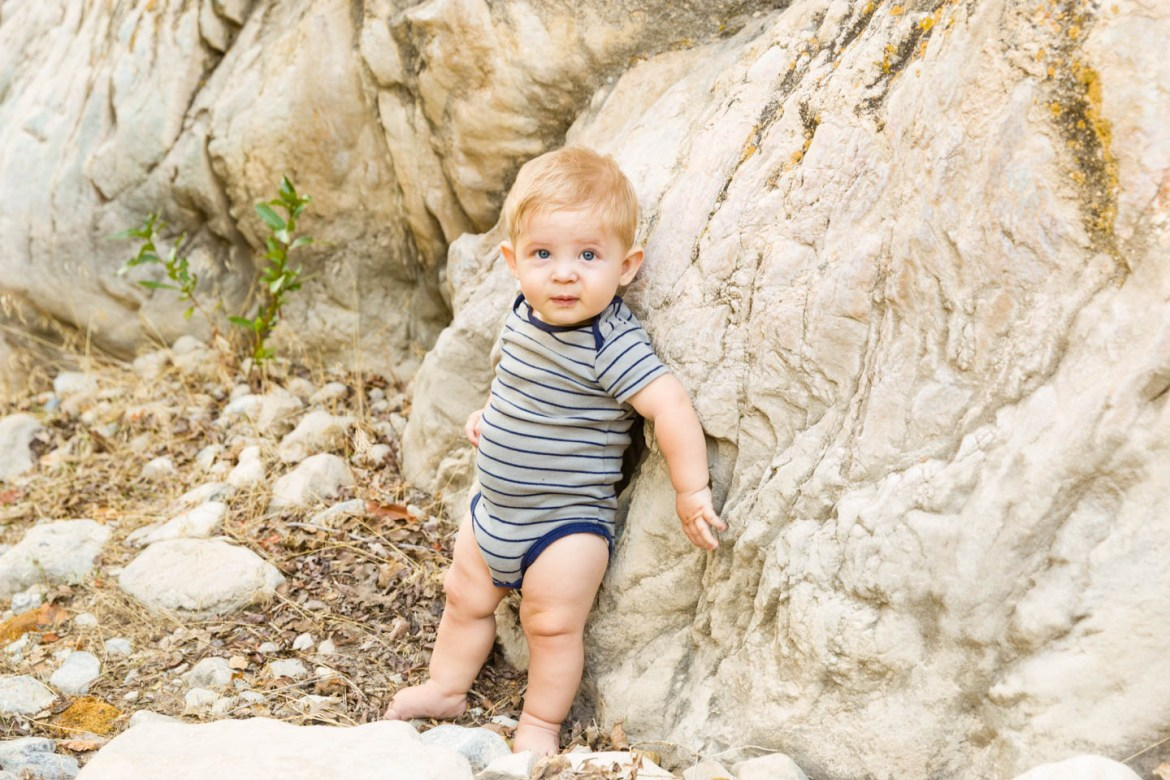 Levi stands against the canyon walls for this portrait