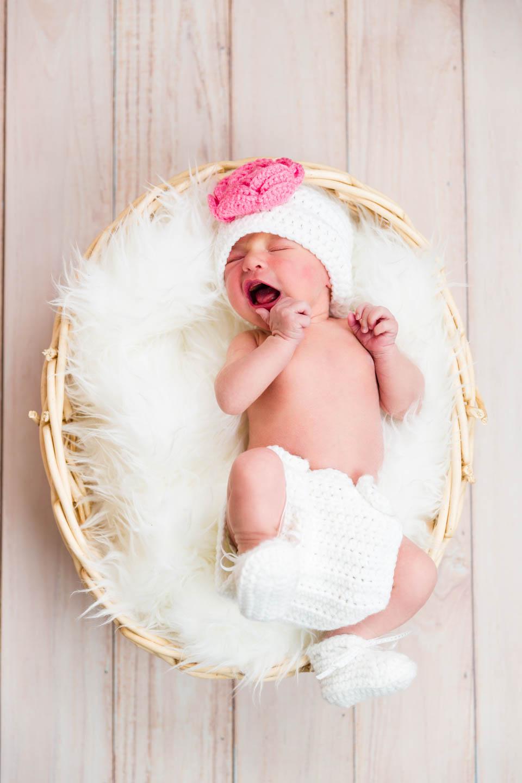 Newborn Baby portrait in basket