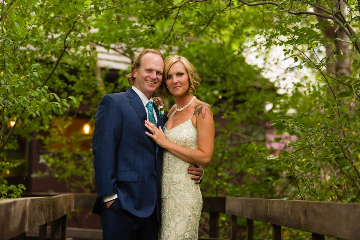 Bride and groom formal portraits