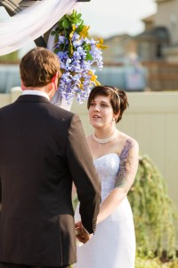 Bride shares wedding vows