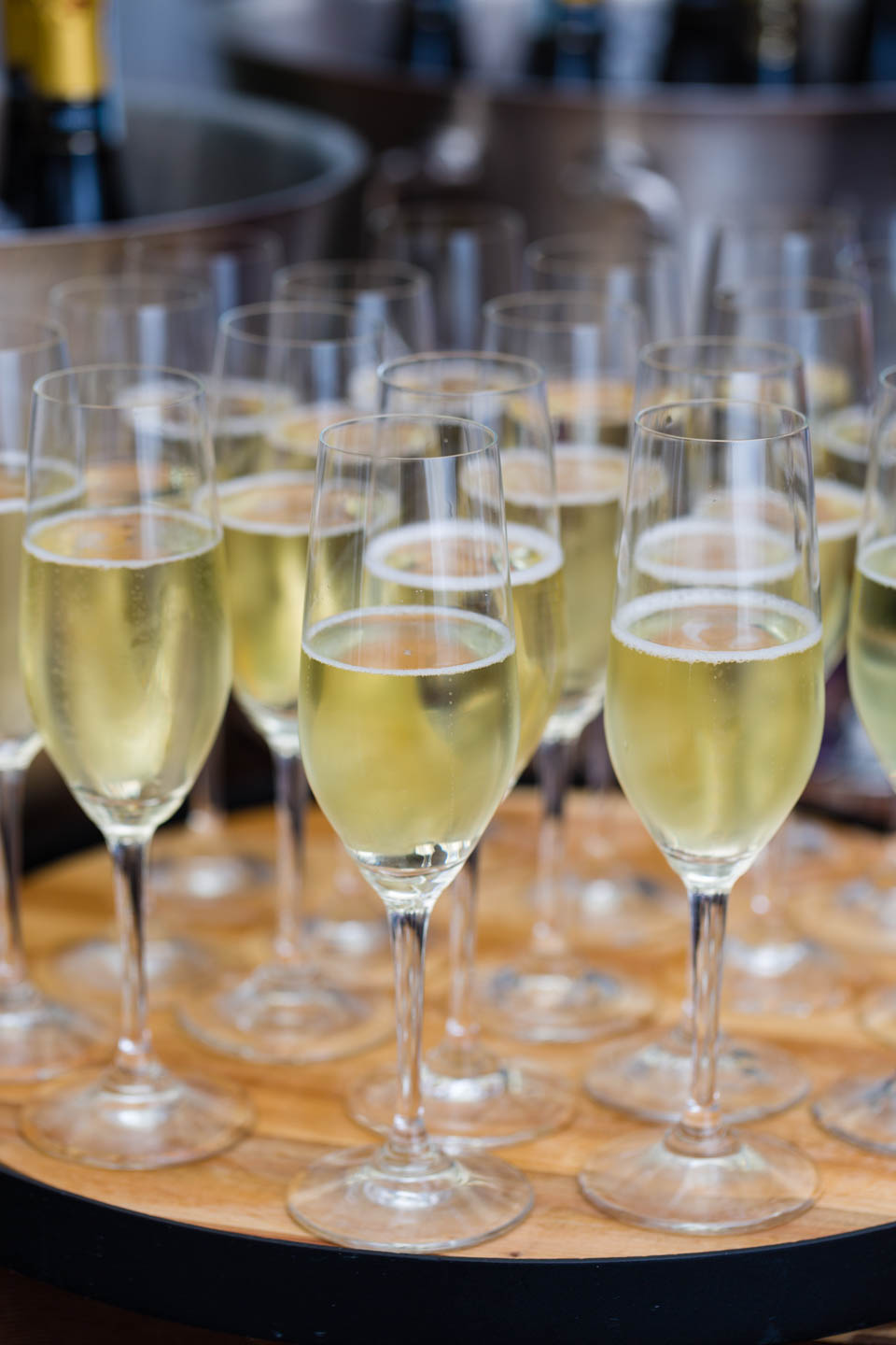 Champagne in flutes