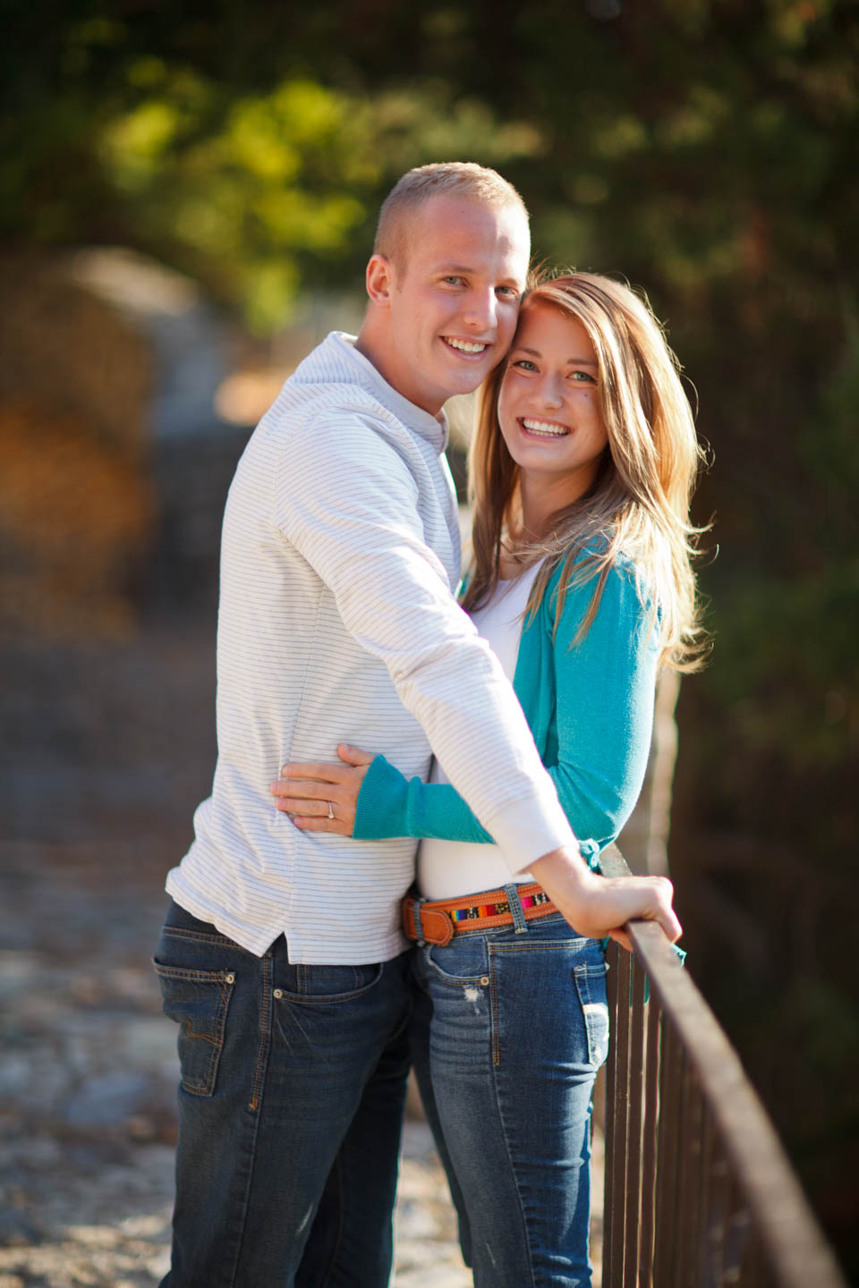 Autumn engagements in Provo at the castle
