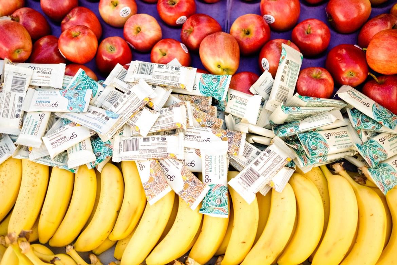 Apples, energy bars, and bananas