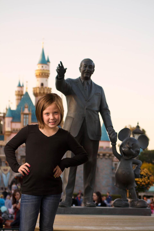 Photoshop Brin into Disneyland which was her favorite spot