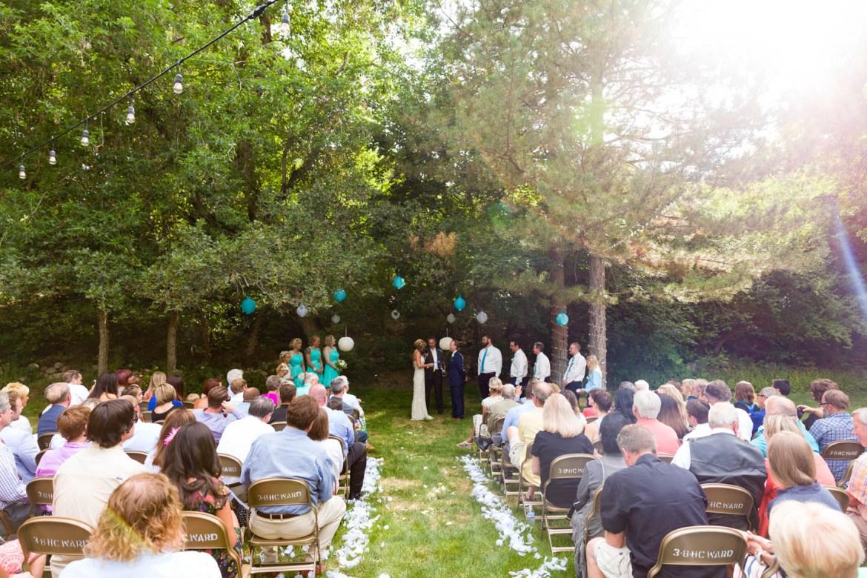 Wedding ceremony in Cottonwood Heights
