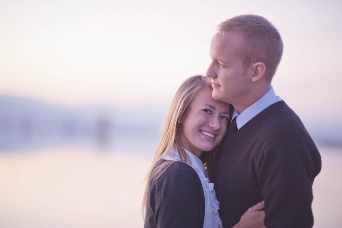 Engagement photography with an old film camera