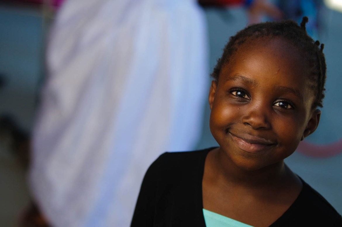 Smiling faces of hope