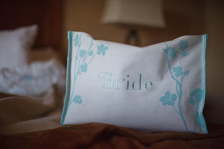 Bride's makeup bag