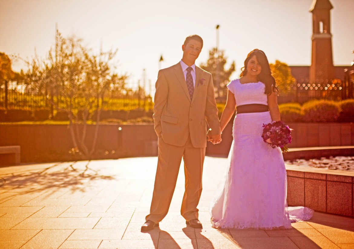 Formal wedding portraits at the Newport Beach Temple