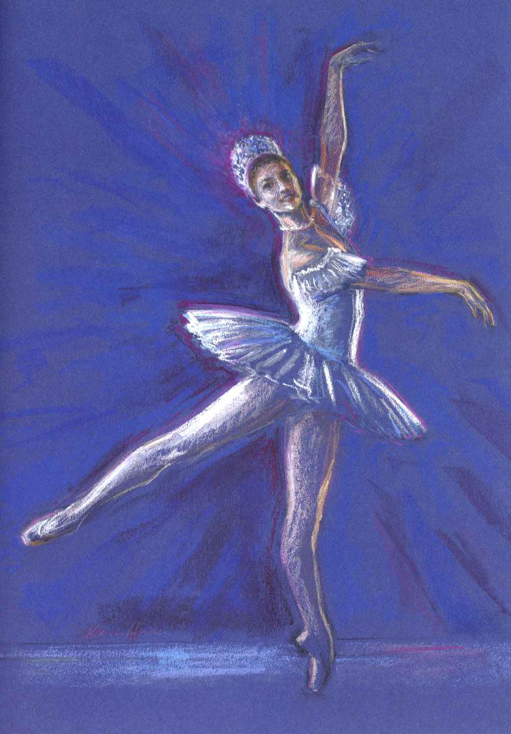 Final pastel drawing by Karen Horne for Ballet West's Nutcracker