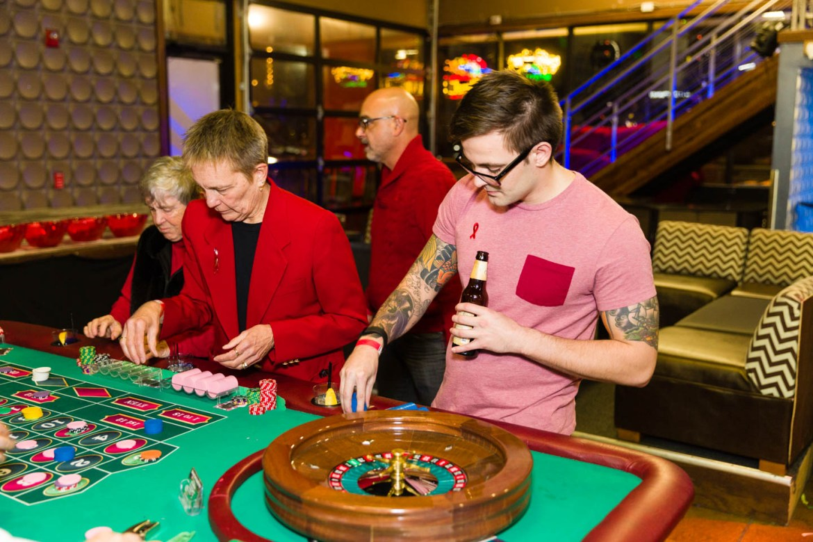 Playing roulette for charity
