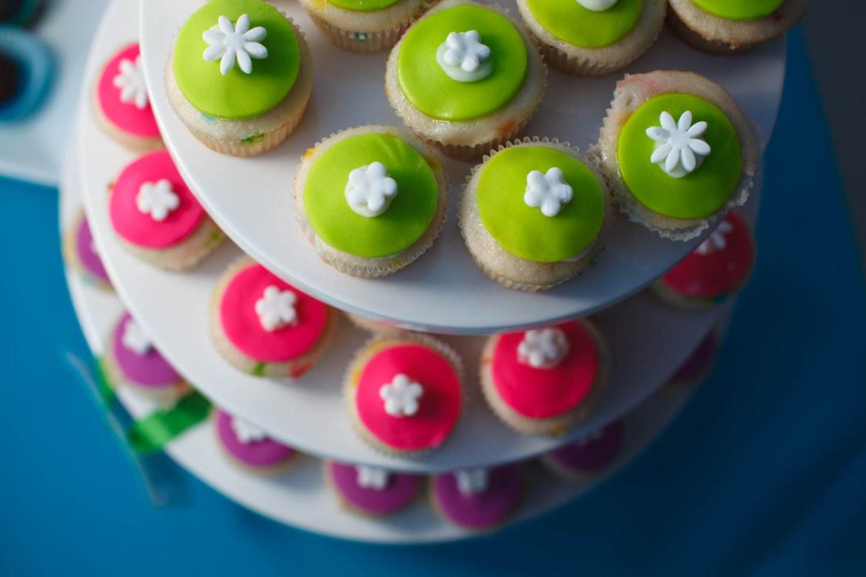 Many mini-cupcakes