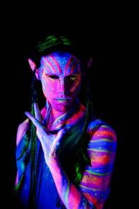 Avatar inspired blacklight model