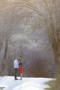Engagement session with Alex & Josie at Bridal Veil Falls